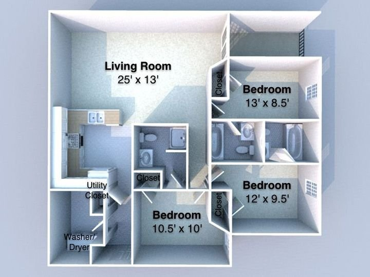 The Quarters at West Lafayette Floorplan